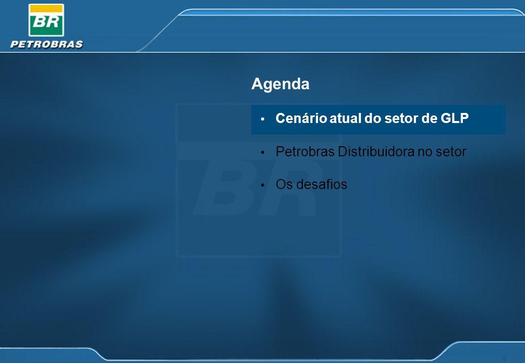 2 Agenda Cenário atual do setor de GLP Petrobras Distribuidora no setor Os desafios
