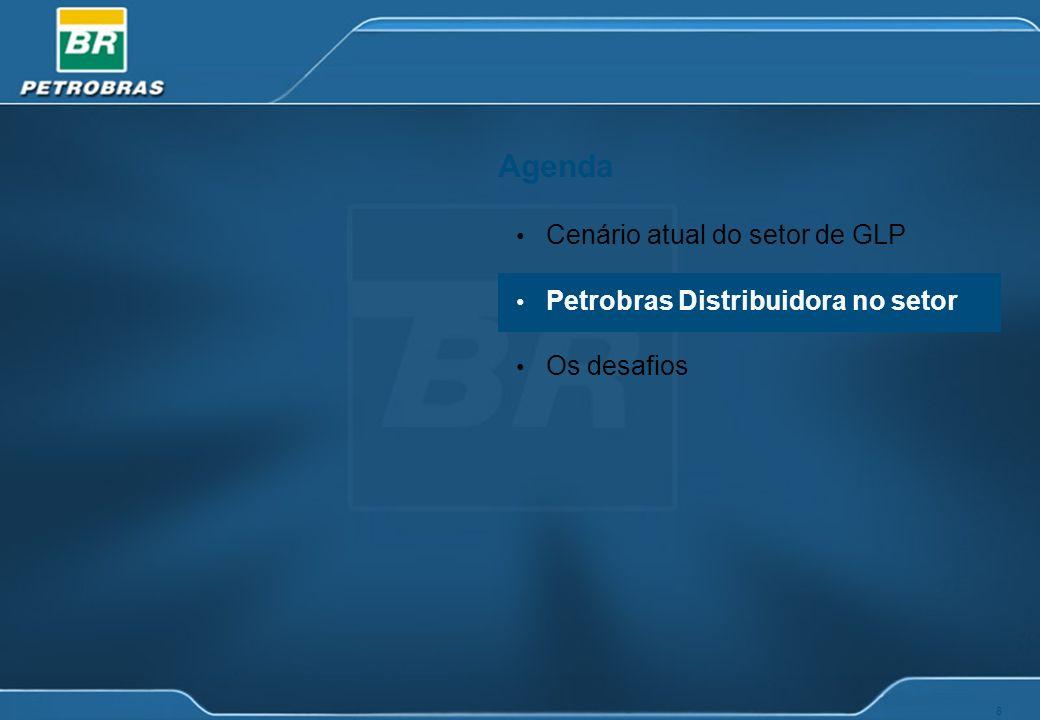 8 Agenda Cenário atual do setor de GLP Petrobras Distribuidora no setor Os desafios