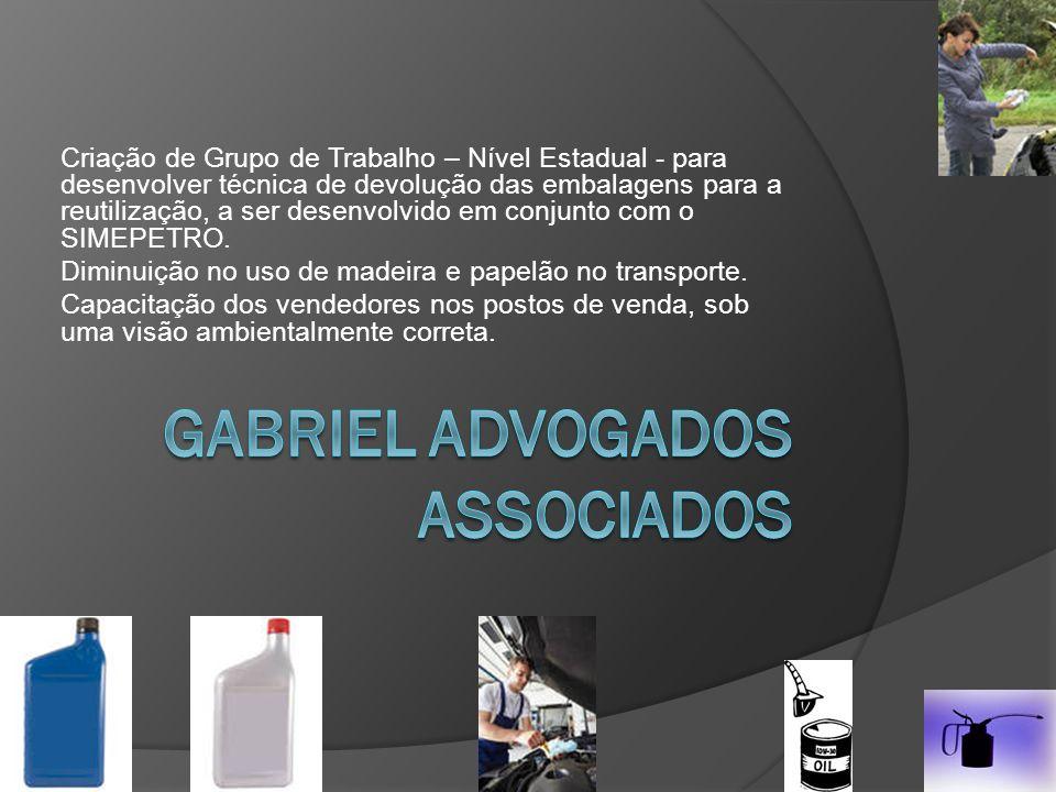 Criação de Grupo de Trabalho – Nível Estadual - para desenvolver técnica de devolução das embalagens para a reutilização, a ser desenvolvido em conjunto com o SIMEPETRO.