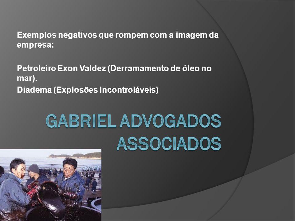 Exemplos negativos que rompem com a imagem da empresa: Petroleiro Exon Valdez (Derramamento de óleo no mar).