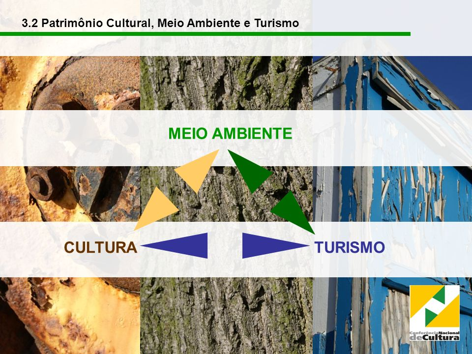 CULTURATURISMO MEIO AMBIENTE 3.2 Patrimônio Cultural, Meio Ambiente e Turismo