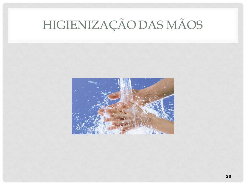 HIGIENIZAÇÃO DAS MÃOS 20