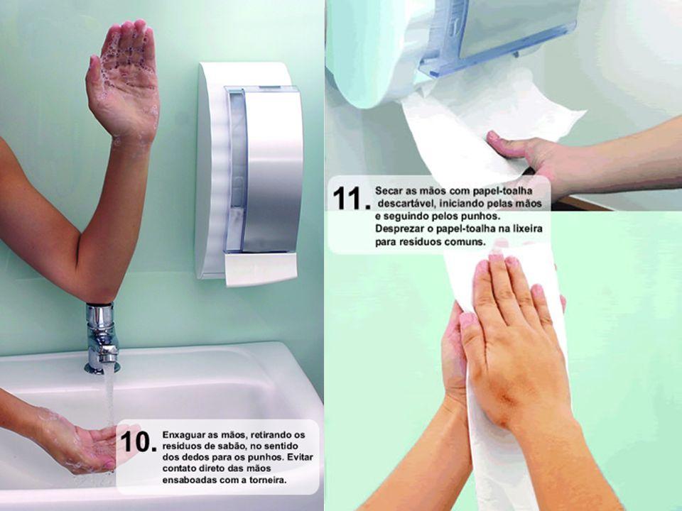 IMPORTANTE No caso de torneiras com contato manual para fechamento, sempre utilize papel-toalha 42