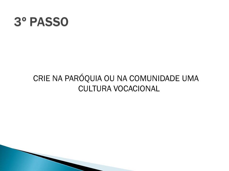 CRIE NA PARÓQUIA OU NA COMUNIDADE UMA CULTURA VOCACIONAL