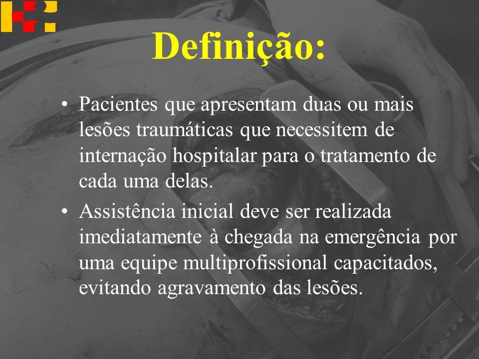 Definição: Pacientes que apresentam duas ou mais lesões traumáticas que necessitem de internação hospitalar para o tratamento de cada uma delas. Assis