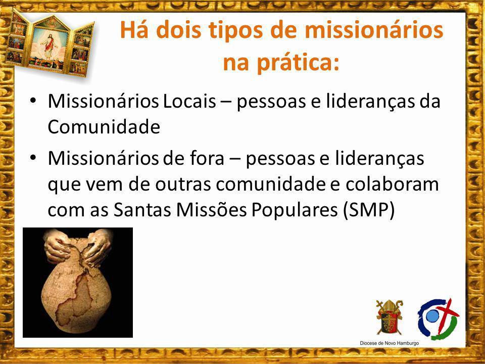 Portanto, os/as missionários/as são: O Coração da SMP: Animam, criam laços, ajudam as pessoas, amimentam a vida de fé e oração; A Cabeça da SMP: Refletem, avaliam, planejam, articulam; Os olhos das SMP: Olham para frente, sem perder tempo em discussões inúteis.
