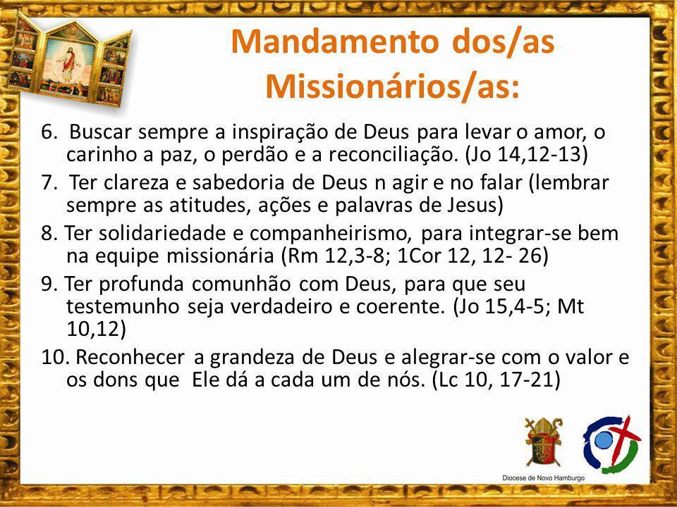 TODO AGIR MISSIONÁRIO DEVER ESTAR IMBUÍDO DO ESÍRITO DE DEUS: É ELE QUE NOS ORNA MISSIONÁRIO.