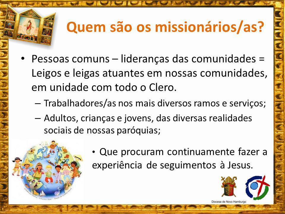 Traços da Espiritualidade dos/as missionários/as.