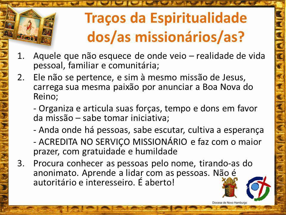 4.Não vive em primeiro lugar por seu grupo religioso, mas coloca-se a serviço do Reino de Deus.