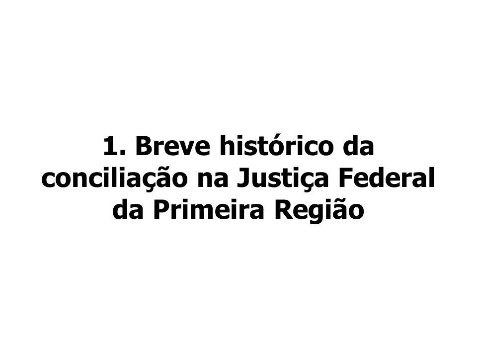 1. Breve histórico da conciliação na Justiça Federal da Primeira Região