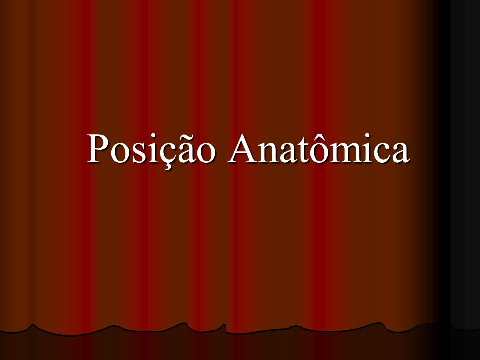 Posição Anatômica
