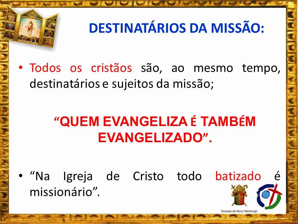 JESUS, é o missionário modelo para todos nós; Deus Pai confiou a Missão a Jesus Cristo.