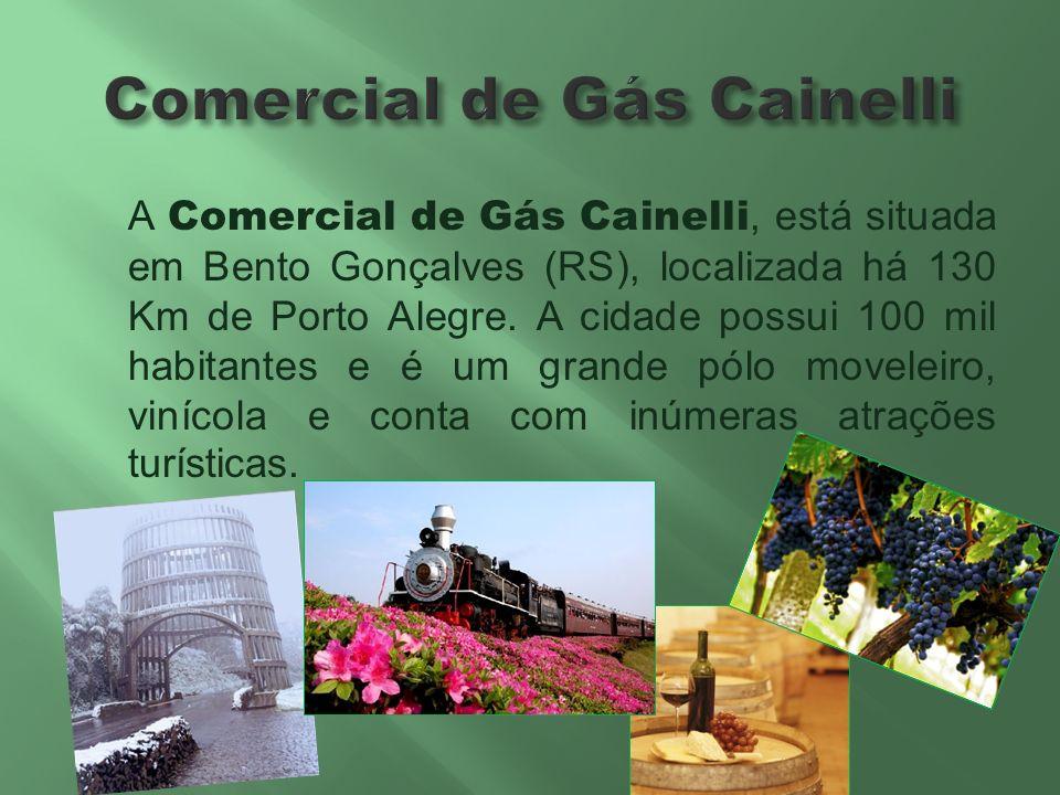 A Comercial de Gás Cainelli, está situada em Bento Gonçalves (RS), localizada há 130 Km de Porto Alegre. A cidade possui 100 mil habitantes e é um gra