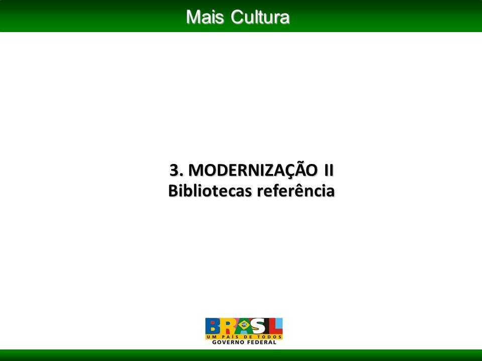3. MODERNIZAÇÃO II Bibliotecas referência Mais Cultura