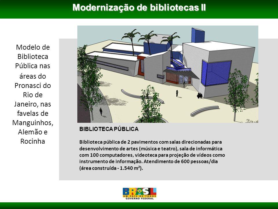 BIBLIOTECA PÚBLICA rea construída - 1.540 m²).