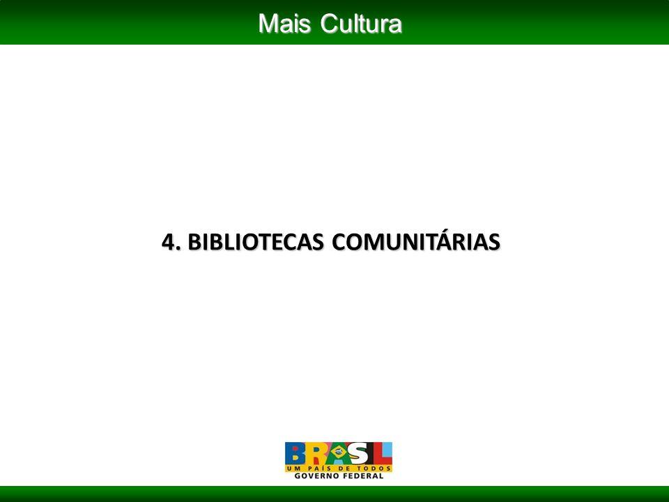4. BIBLIOTECAS COMUNITÁRIAS Mais Cultura