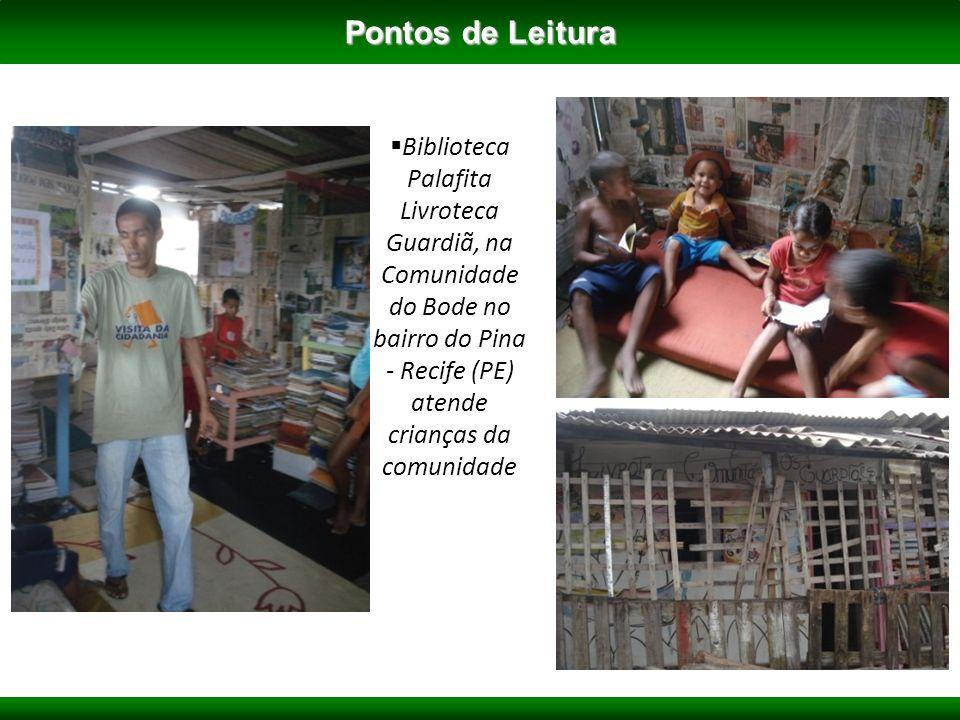 Biblioteca Palafita Livroteca Guardiã, na Comunidade do Bode no bairro do Pina - Recife (PE) atende crianças da comunidade Pontos de Leitura
