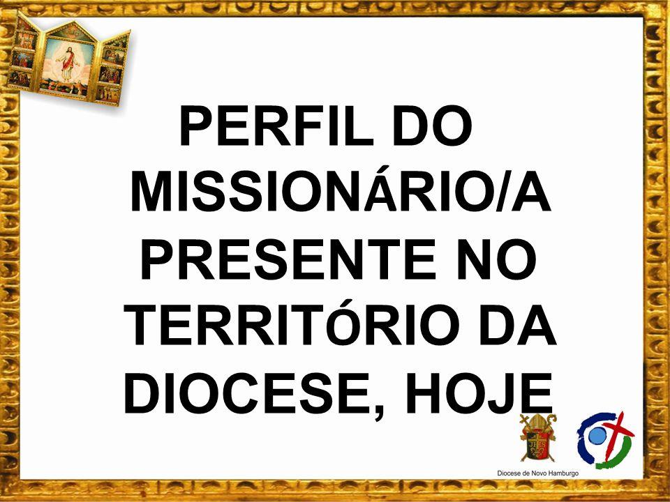 PERFIL DO MISSION Á RIO/A PRESENTE NO TERRIT Ó RIO DA DIOCESE, HOJE