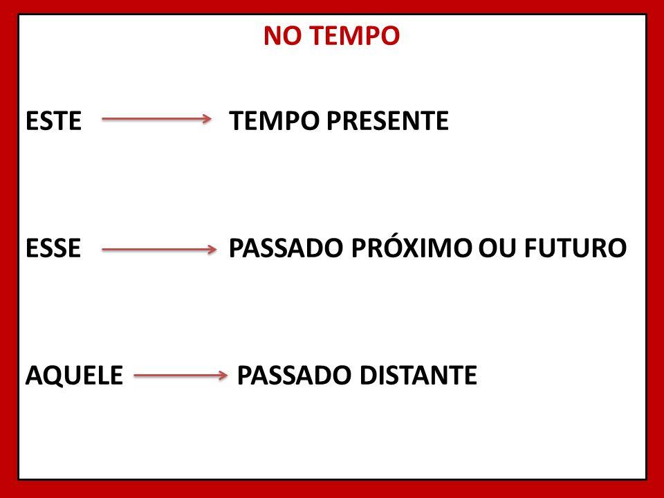 NO TEMPO ESTE TEMPO PRESENTE ESSE PASSADO PRÓXIMO OU FUTURO AQUELE PASSADO DISTANTE 18