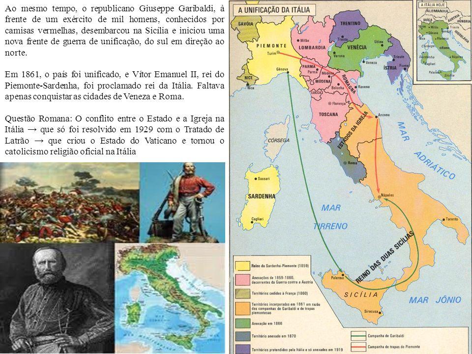A unificação da Alemanha Depois da queda de Napoleão, o processo de reorganização das monarquias européias deu origem à formação da Confederação Alemã.