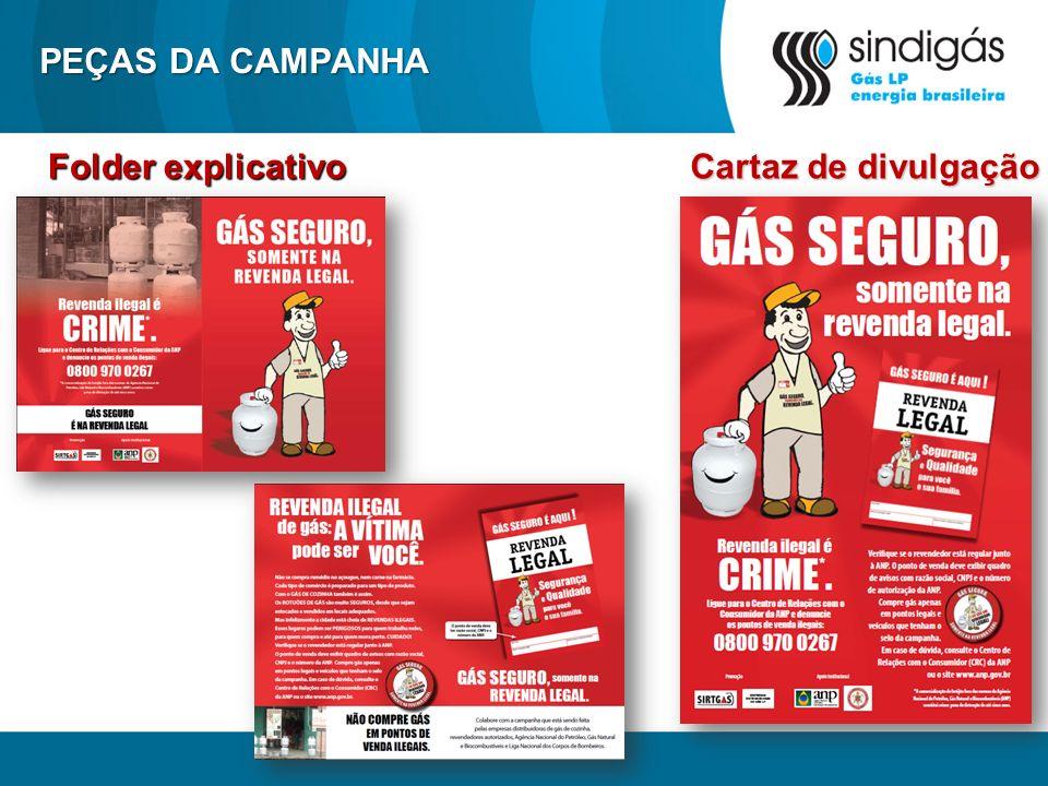 PEÇAS DA CAMPANHA Folder explicativo Cartaz de divulgação