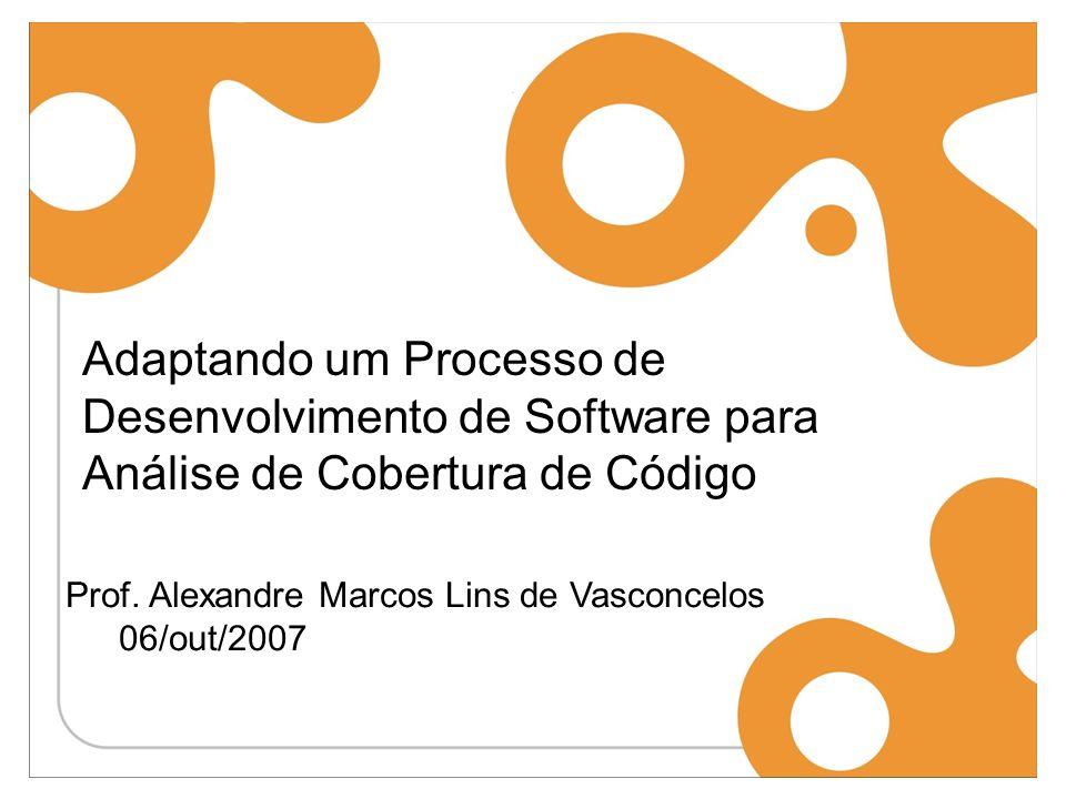 Adaptando um Processo de Desenvolvimento de Software para Análise de Cobertura de Código Prof.