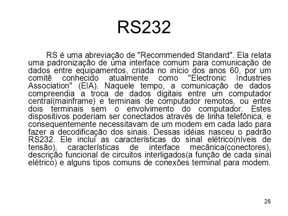 26 RS232 RS é uma abreviação de