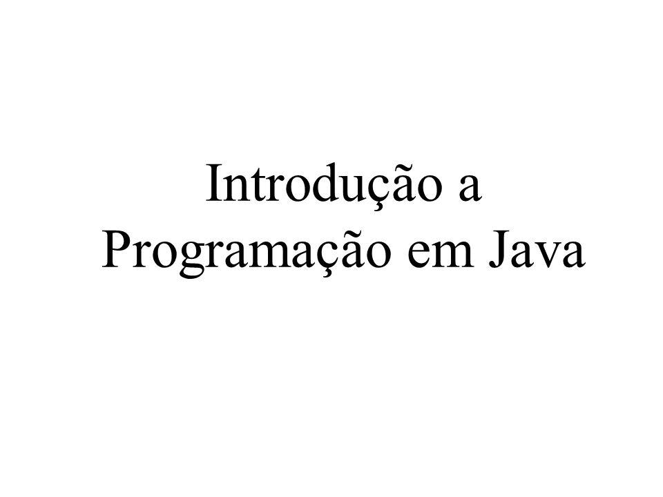 Introdução a Programação em Java