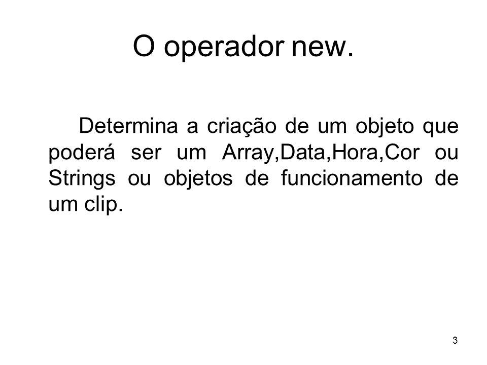 3 O operador new.