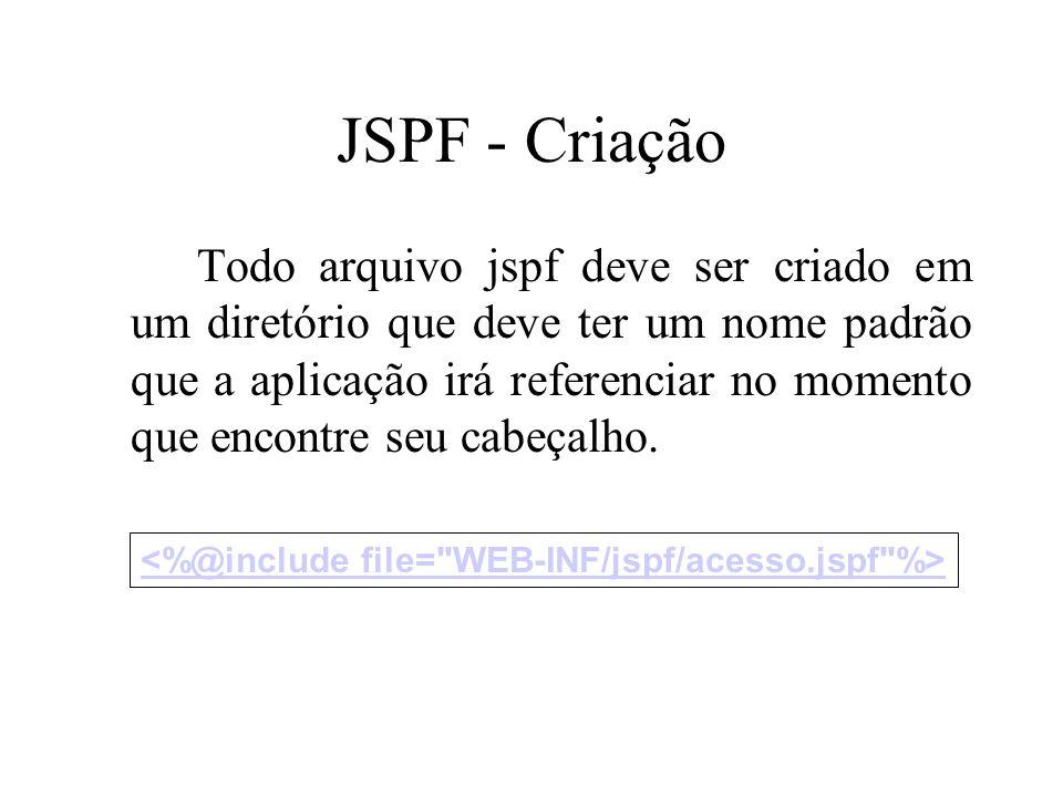 JSPF - Criação Todo arquivo jspf deve ser criado em um diretório que deve ter um nome padrão que a aplicação irá referenciar no momento que encontre s