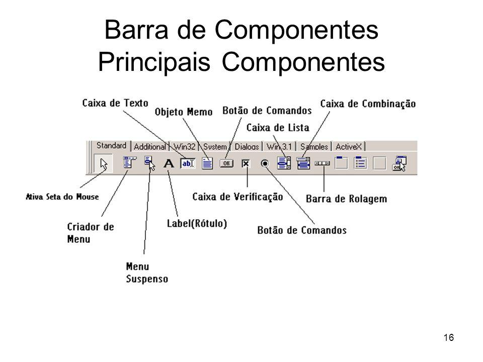 16 Barra de Componentes Principais Componentes