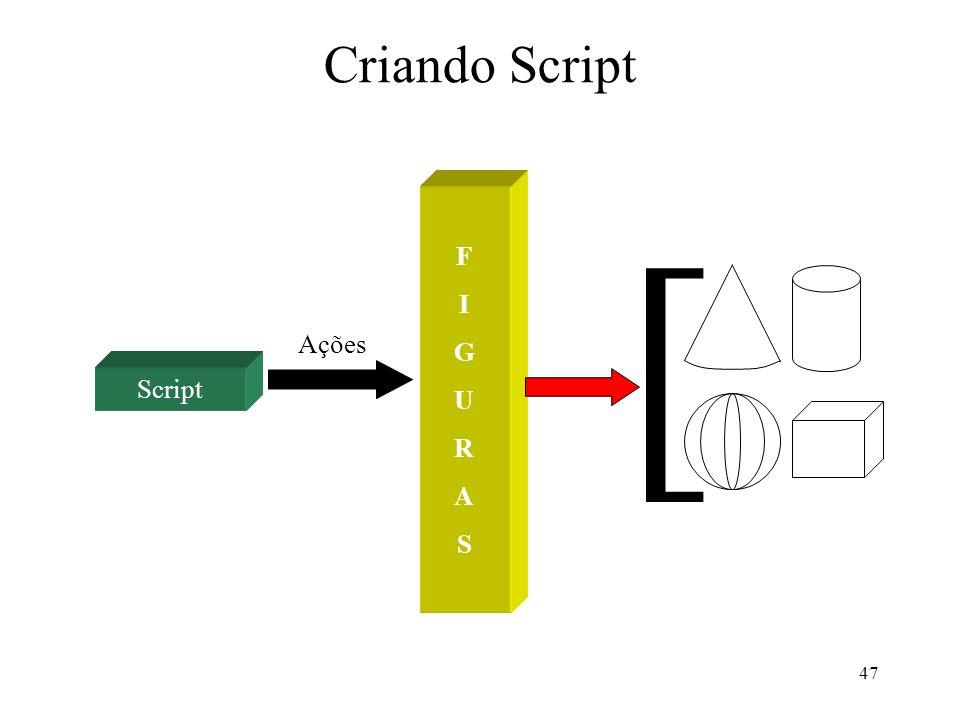 47 Criando Script Script Ações FIGURASFIGURAS [