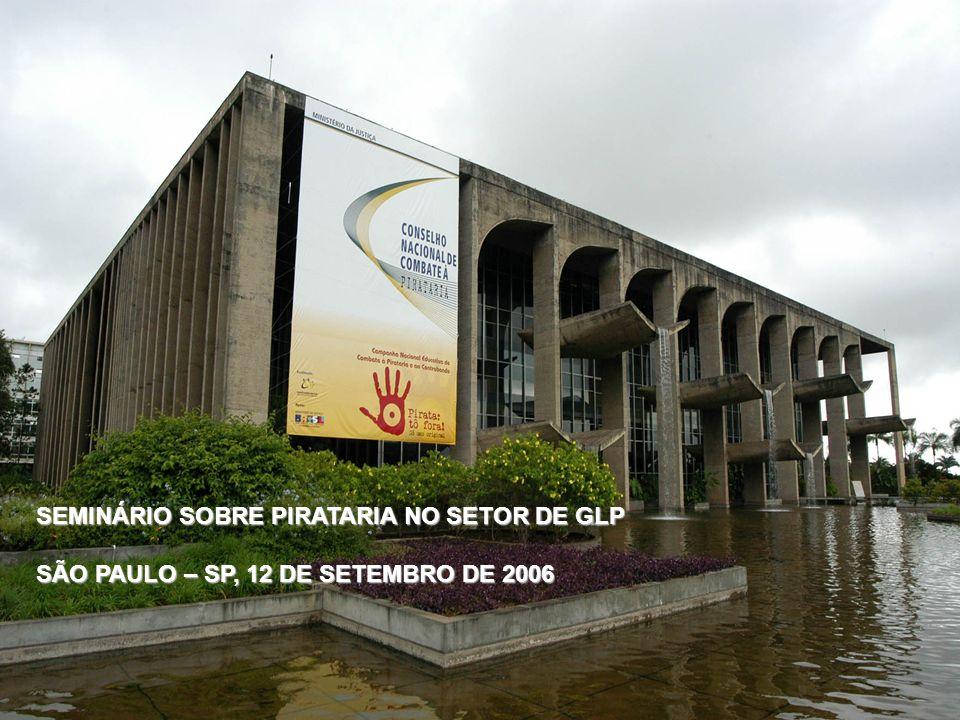 Secretaria Executiva MINISTÉRIO DA JUSTIÇA CONSELHO NACIONAL DE COMBATE À PIRATARIA E DELITOS CONTRA A PROPRIEDADE INTELECTUAL SEMINÁRIO SOBRE PIRATAR