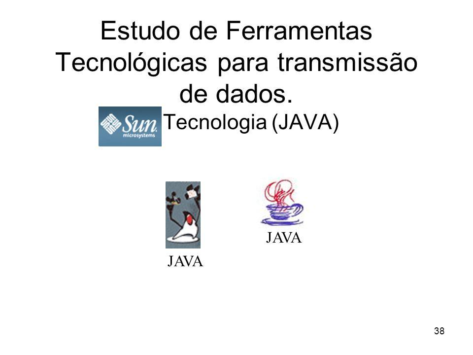 38 Estudo de Ferramentas Tecnológicas para transmissão de dados. Tecnologia (JAVA) JAVA