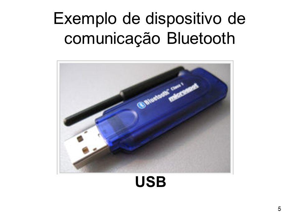 5 Exemplo de dispositivo de comunicação Bluetooth USB