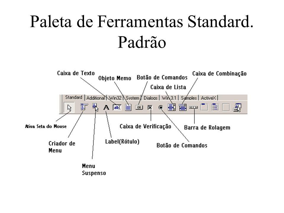 Paleta de Ferramentas Standard. Padrão
