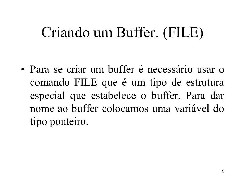 Criando um Buffer.