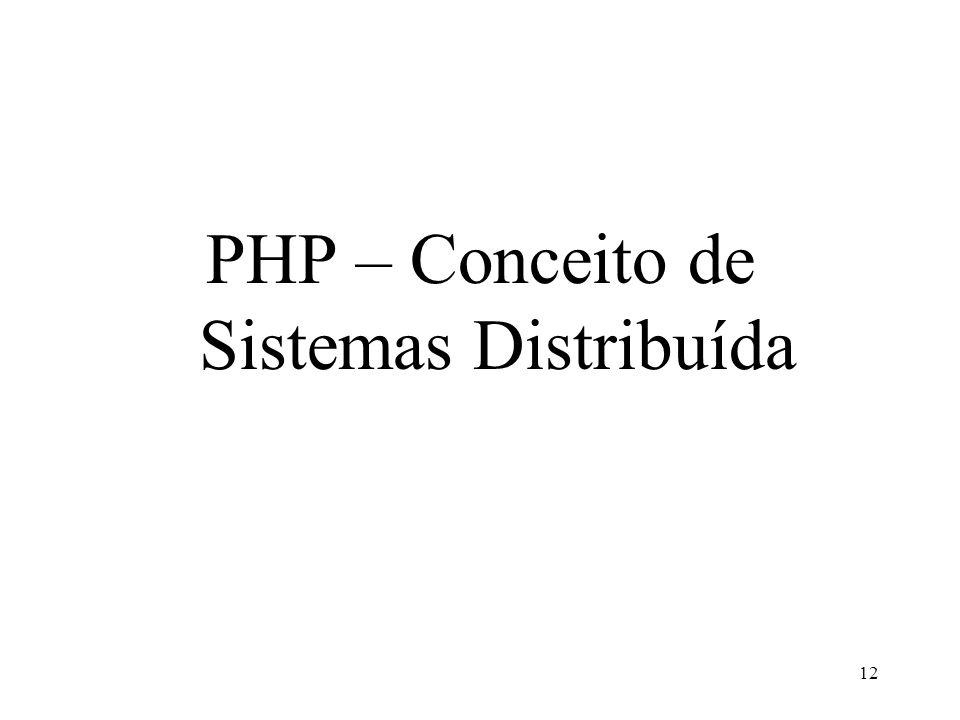 PHP – Conceito de Sistemas Distribuída 12