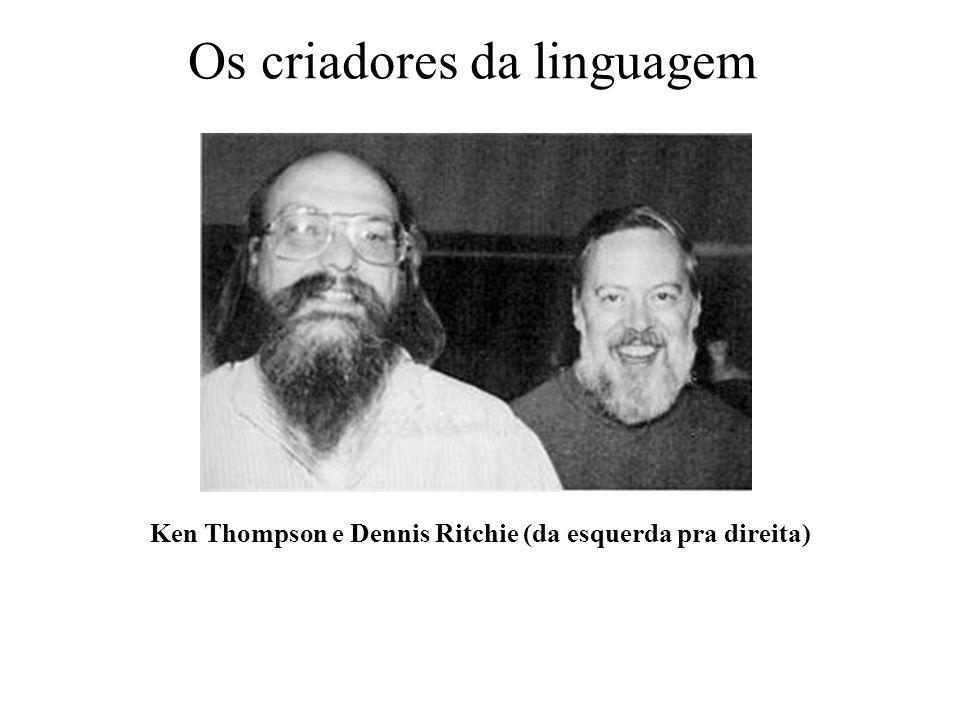 Os criadores da linguagem Ken Thompson e Dennis Ritchie (da esquerda pra direita)