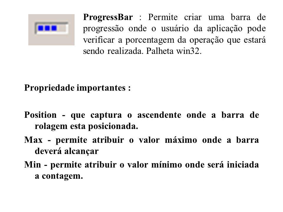 Propriedade importantes : Position - que captura o ascendente onde a barra de rolagem esta posicionada.