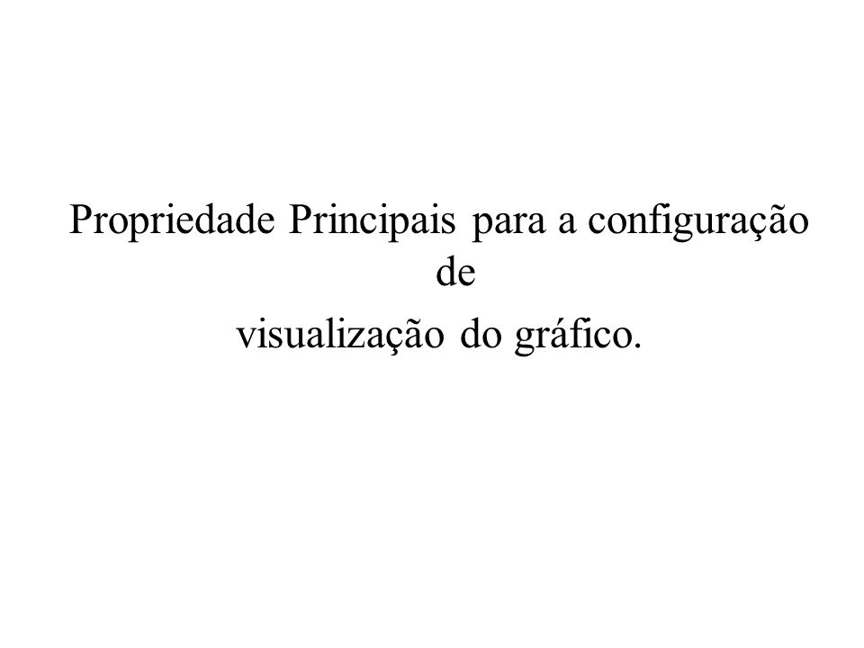 Propriedade Principais para a configuração de visualização do gráfico.