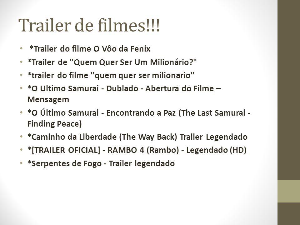 Trailer de filmes!!! *Trailer do filme O Vôo da Fenix *Trailer de
