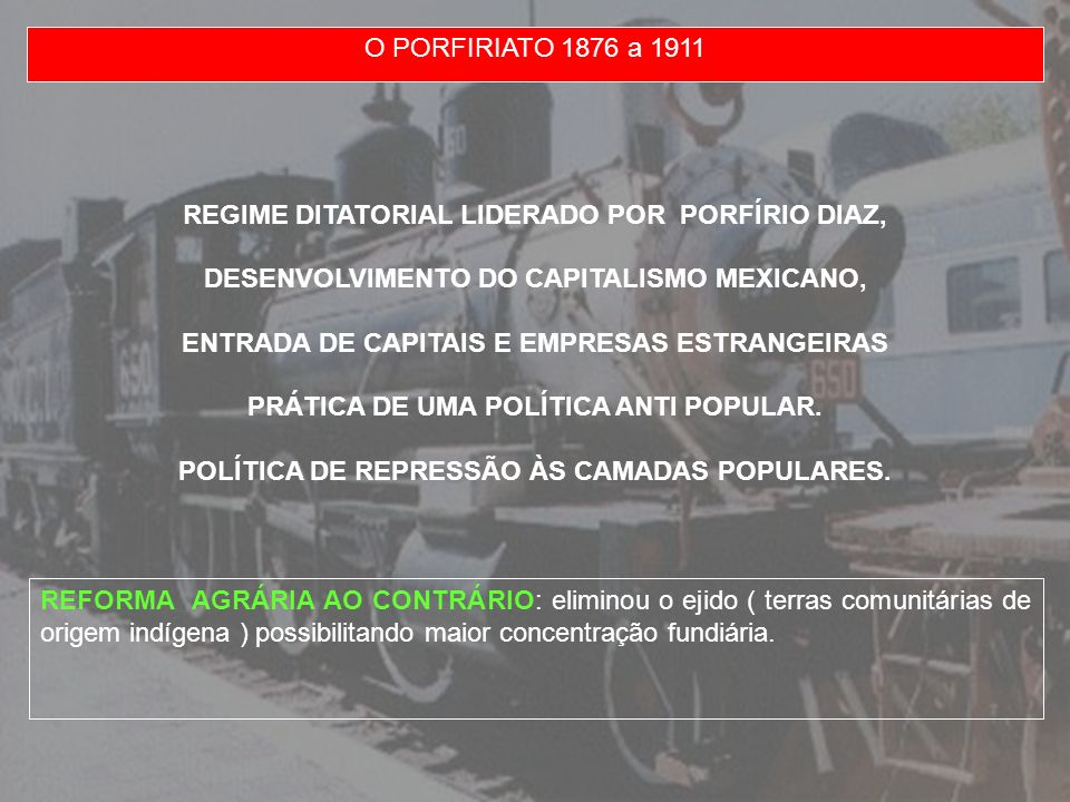 CARRANZA ADOTOU MEDIDAS NACIONALISTAS QUE LEVARIAM A NACIONALIZAÇÃO DO PETRÓLEO AO MESMO TEMPO EM QUE FEZ CONCESSÕES ÀS GRANDES EMPRESAS NORTE AMERICANAS E ORGANIZOU UMA ASSEMBLÉIA CONSTITUINTE (EXCLUINDO A PARTICIPAÇÃO CAMPONESA).