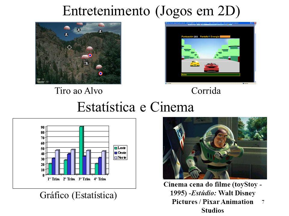7 Entretenimento (Jogos em 2D) Tiro ao AlvoCorrida Gráfico (Estatística) Cinema cena do filme (toyStoy - 1995) -Estúdio: Walt Disney Pictures / Pixar