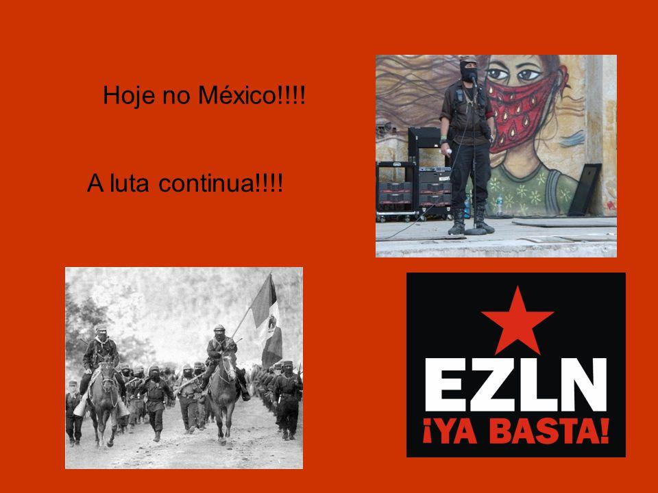 Hoje no México!!!! A luta continua!!!!