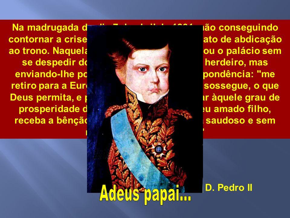 O imperador, pressionado por toda a situação - após um manifesto redigido por vinte e três deputados e pelo senador Vergueiro - nomeou, a 19 de março,