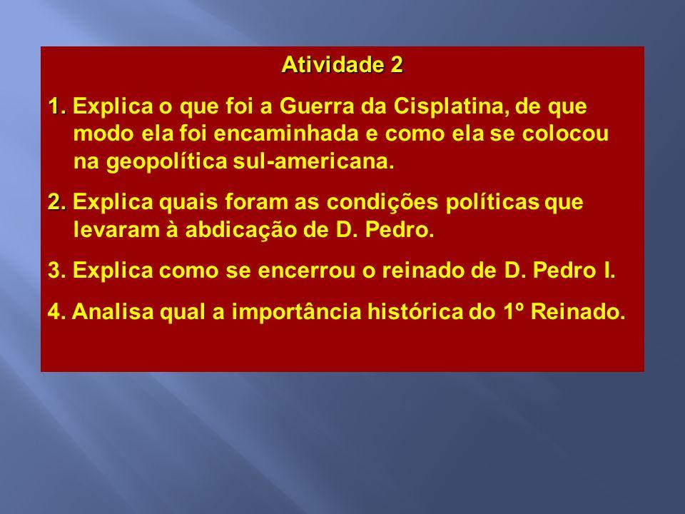 Na madrugada do dia 7 de abril de 1831, não conseguindo contornar a crise, D. Pedro I apresentou o ato de abdicação ao trono. Naquela mesma madrugada