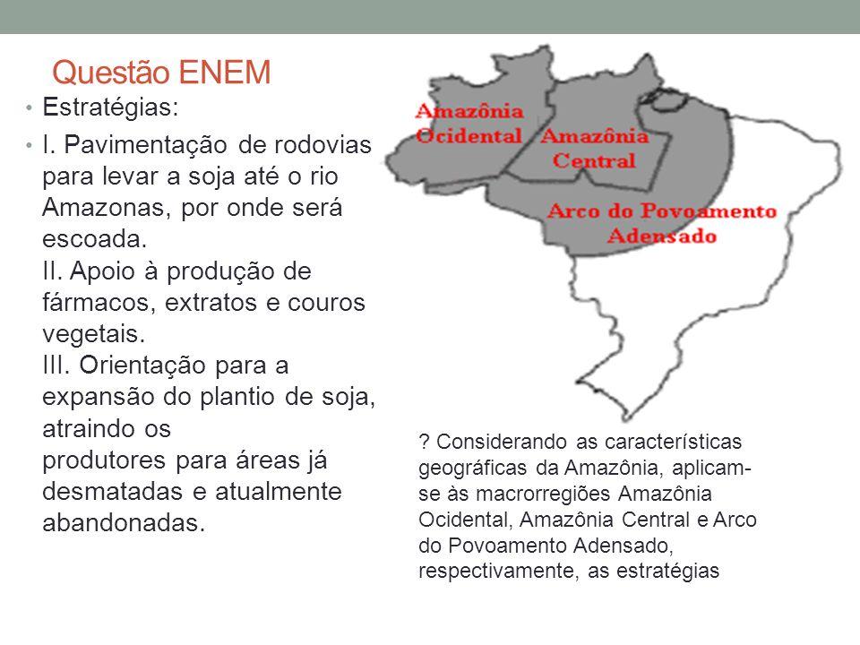 Complexo Regional da Amazônia Floresta Ombrófila Densa área de 7,5 milhões de km2 porção centro oriental da América do Sul com clima Equatorial: quente e úmido intricada e extensa bacia hidrográfica