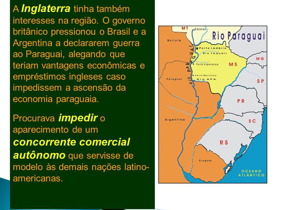 Solano López No ano de 1862, Solano López chegou ao poder para dar continuidade às conquistas dos governos anteriores. Mas, um dos grandes problemas d