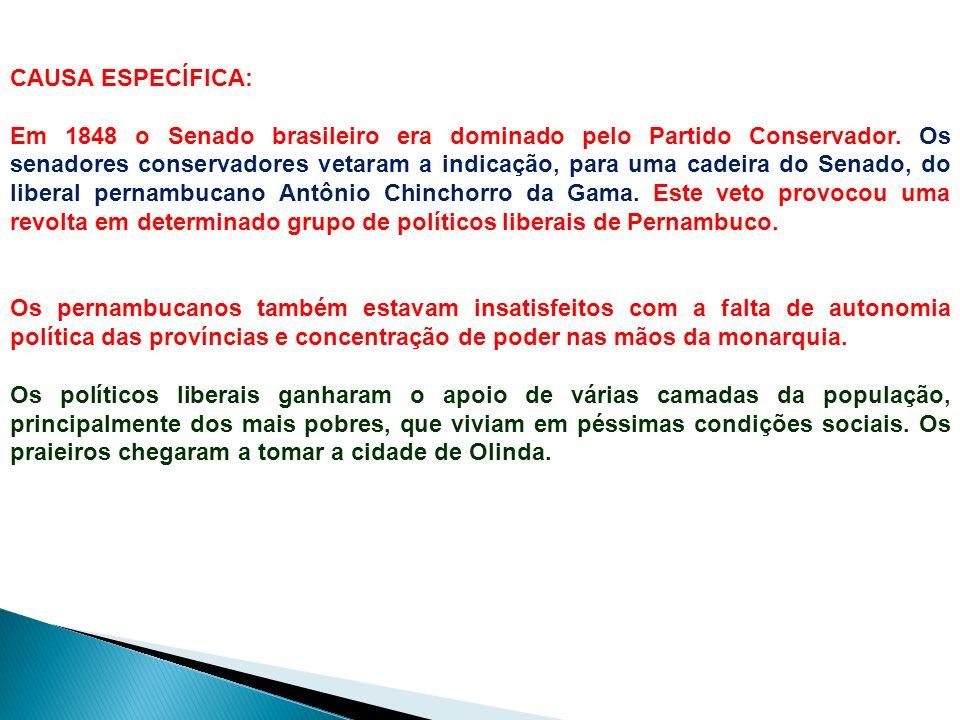 A Revolução Praieira foi uma revolta de caráter liberal e federalista ocorrida na província de Pernambuco entre os anos de 1848 e 1850. Dentre as vári